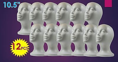 Wig Styrofoam Head Foam Mannequin Display 10.5 12pcs