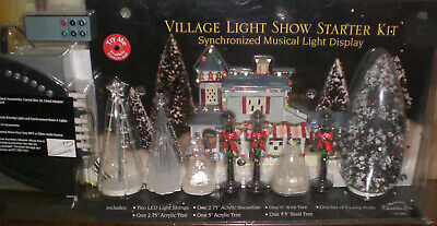 ~ Musical Remote Control LED Christmas Village /TrainLayout /Table Display NEW ~