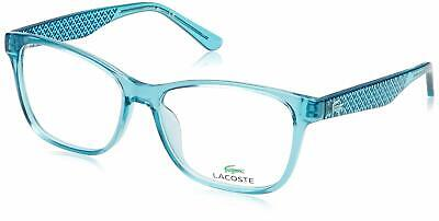 New Authentic LACOSTE L2774 467 Blue Rectangular 54/15/140 Eyeglasses