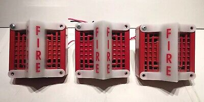 Lot Of 3 Federal Signal Fire Alarm Vibratone Horn Strobe Model 450d Series B4