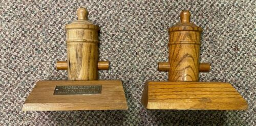 1927 US Constitution Wooden Cannon Bookends RARE made from actual hull materials