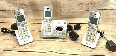 AT&T EL52353 (3) Handset Cordless Telephone System with Answering Machine Tested