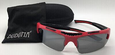 Duduma - Polarized Sports Sunglasses- Men Women - Red/black Frame & Black Lens