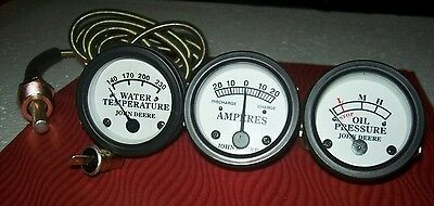Tractor Oil Pressure Ammeter Temperature Gauge Set Replacement For John Deere