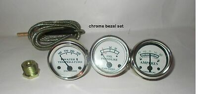 Tractor Oil Pressure Ammeter Temperature Gauge Set Replacement Fits John Deere