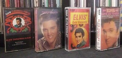 Elvis Presley 4 Cassette Lot Love Me Tender Elvis Christmas Top Ten Hits