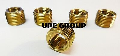 - BRASS FACE BUSHING REDUCING NPT THREADS PIPE FITTING 3/8 MALE X 1/4 FEMALE QTY 5