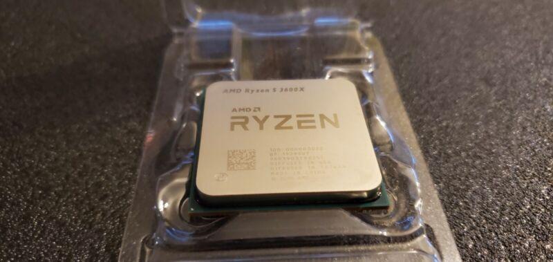 AMD Ryzen 5 3600X 6-Cores CPU 12-Threads 3.8GHz Base 4.4GHz Boost Processor