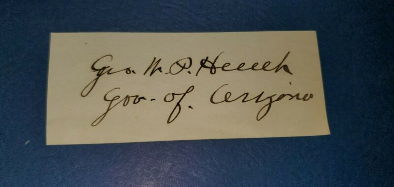George  W P Hunt signature, 1st Governor of Arizona, 1912 (b)