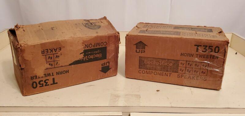 Electro Voice T350 Tweeters Pair in original box very rare