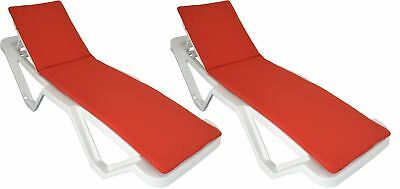 Red Sun Lounger Cushion Pad Replacement for Sunlounger Garden Patio Bed x21