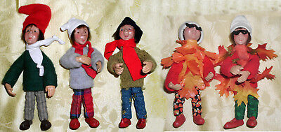 Byers Choice Christmas Kindles Elves Poseable Doll Ornaments - Mixed Group
