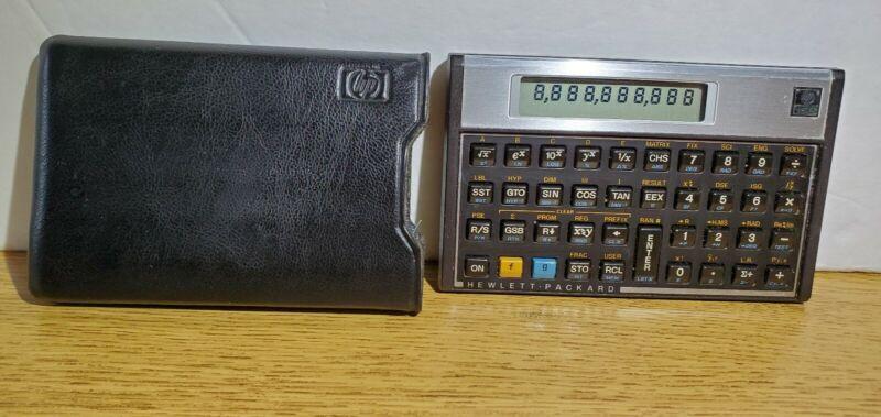 Vintage Hewlett Packard HP 15C Scientific Calculator With  Sleeve Case