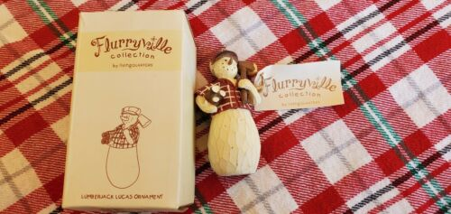 Lumberjack Lucas Christmas Ornament Flurryville Collection