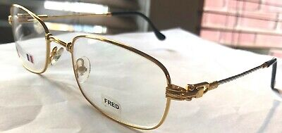 New Fred Lunettes Falkland Gold Silver Rope Frames 54mm Eyeglasses Rxable (Lunettes Glasses)