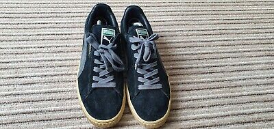 PUMA MENS BLACK SUEDE SHOES UK 10 / 10.5