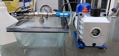 14 Hp 3 Cfm Rotary Air Vacuum Pump Rs-1 Vacuum Chamber