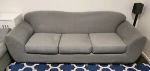 2 & 3 seater lounge plus Ottoman fold out full single bed