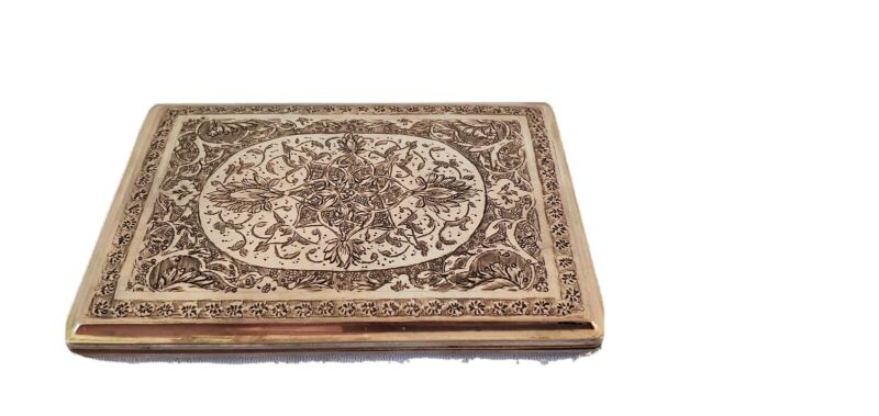 PERSIAN SILVER CIGARETTE CASE ALL HAND ENGRAVED