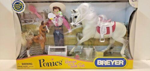 New Old Stock 2007 Model Breyer Ponies Horse & Foal Western Gift Set # 7039