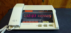Vintage Jcpenney Telephone Clock Radio Alarm Am Fm Corded