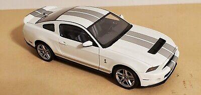 Autoart 1/18 2010 Shelby Mustang GT500 White w/ Silver Stripes 72917