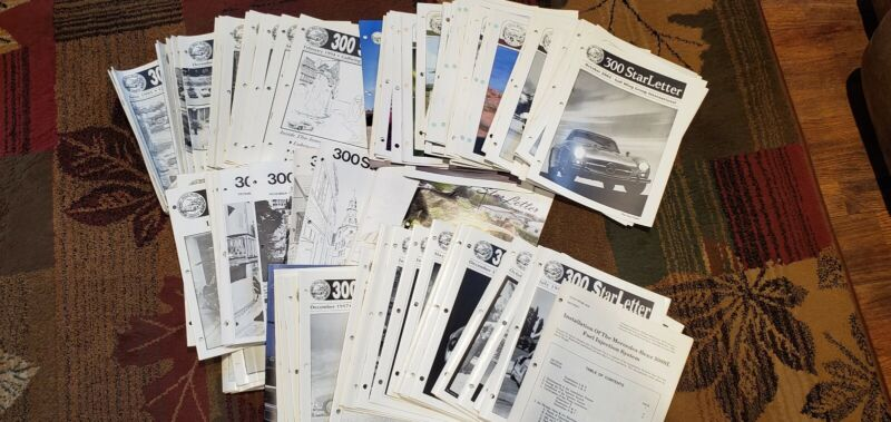 Massive Collection Mercedes 300 Star Letter Magazines 100+ issues  1990 - 2008