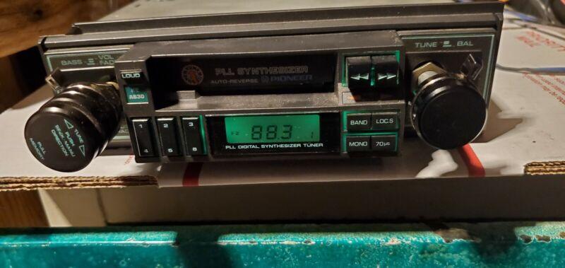 Vintage Pioneer KE-A630 PLL Synthesizer Car 12V Stereo AM FM Cassette Japan