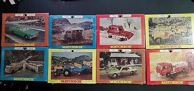 1969 Lesney Matchbox Jigsaw Puzzles **Rare Complete Set Of 8**
