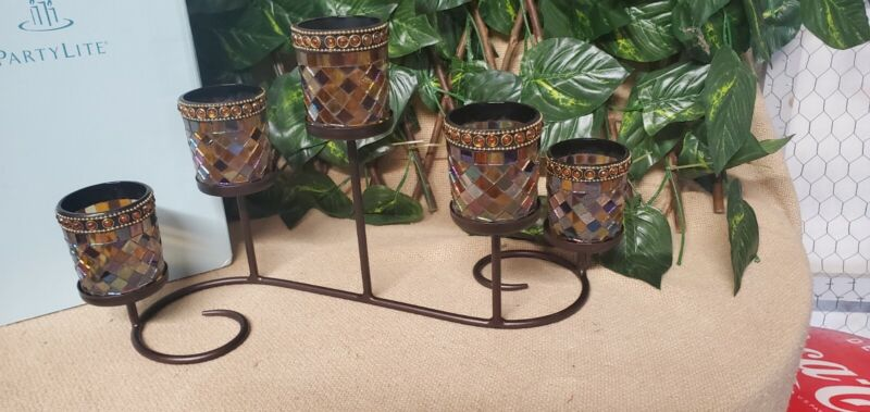 """PartyLite """"Global Fusion"""" Multi-Votive Centerpiece-EUC! All the colors of Fall!"""