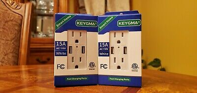 Usb Outlet 4.2 Amps Fast Charge 15 Amps Receptacle Pack Of 2 Free Shipping