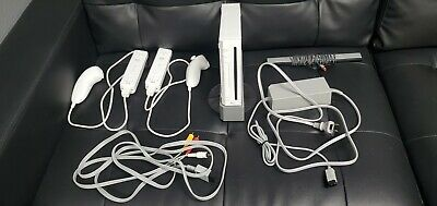 Nintendo Wii Console With 2 Controller 2 Nunchucks, All Cords, and Wii Sports