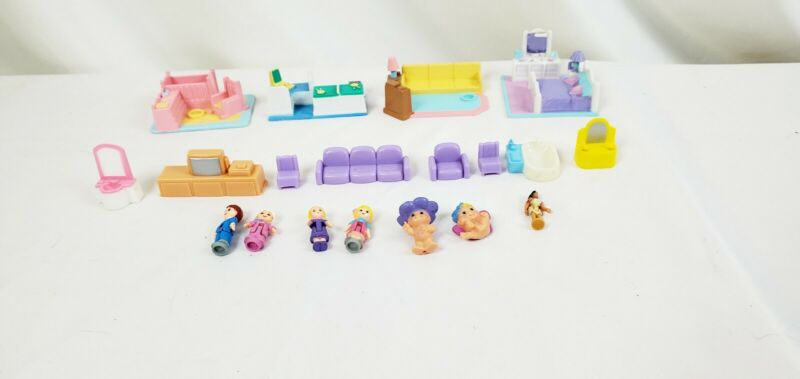 Lot Of My Pretty Dollhouse Rooms Furniture Lgti Figurines And Others