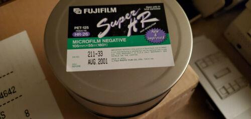 NEW OLD STOCK-2001- FUJIFILM SUPER HR-26 MICROFILM NEGATIVE 105MM x 55M(180 FT)