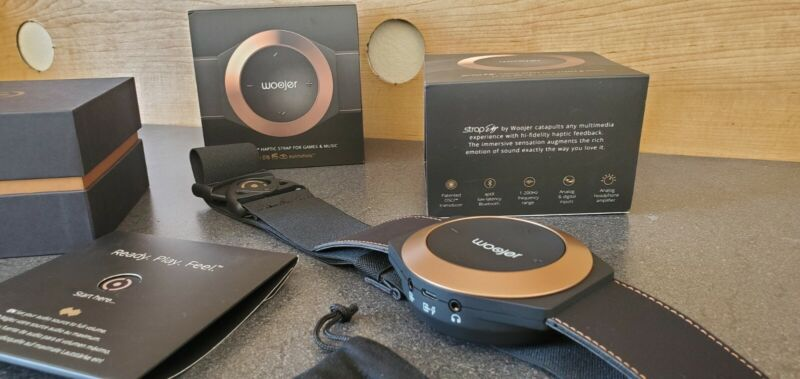 Woojer Strap Edge - Haptic Technology to Feel Your Music and Games