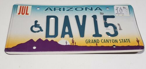 ARIZONA AZ HANDICAP LICENSE PLATE