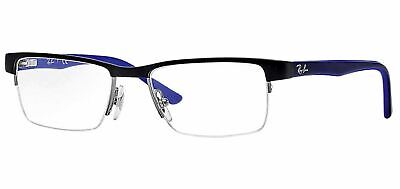 New Ray-Ban RB1034 4019 Black Blue Junior RX Prescription Eyeglasses Frames (Ray Ban Junior Prescription Glasses)