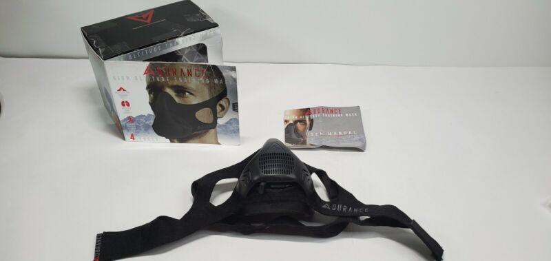 Adurance Peak Resistance High Altitude Face Air Mask Workout Training Mask Black