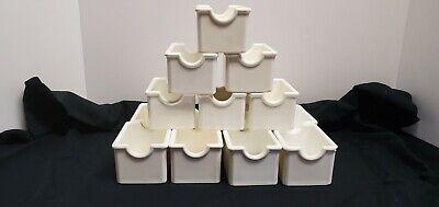 White Hard Plastic Restaurant Sugar Caddies 14