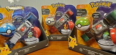 Pokemon Clip and Carry Poke Ball Adjustable Belt with Action Figure Assorted