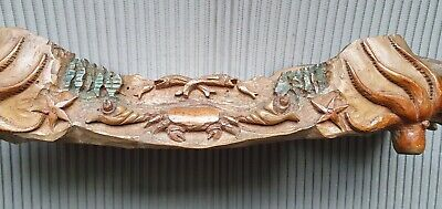 ITALIAN hand Carved Wood Tray