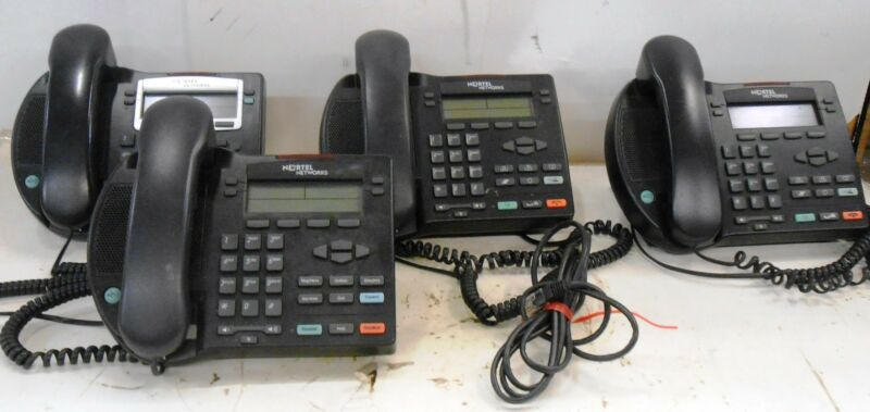 NORTEL NETWORKS, OFFICE PHONE, NTDU76, MODEL IP 2002, LOT OF 4