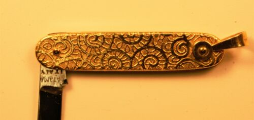 Gold Manicure knife, 14KT Gold, Italian Made