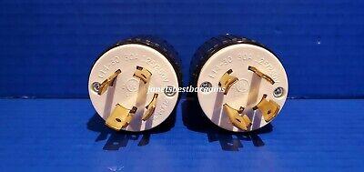 30 Amp 125250 Volt Male Twist Lock 4 Prong 4 Wire Cord Plug Nema L14-30p 2 Pack