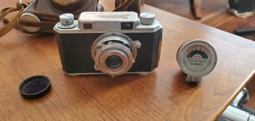 Vintage Konica No. 25369 Camera + Leather Case Occupied Japan Rising Sun Meter