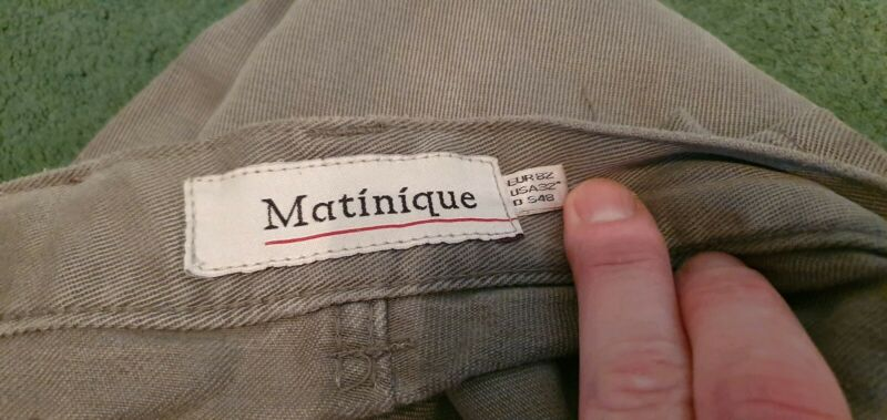MATINIQUE GREY MENS BUTTON JEANS WAIST 32 LEG 34 ORIGINAL 1992