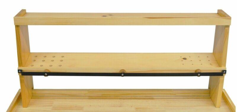 """35"""" x 7-1/4"""" x 17"""" Wooden Bench Shelf Jewelry Making Tools Storage Organizer"""