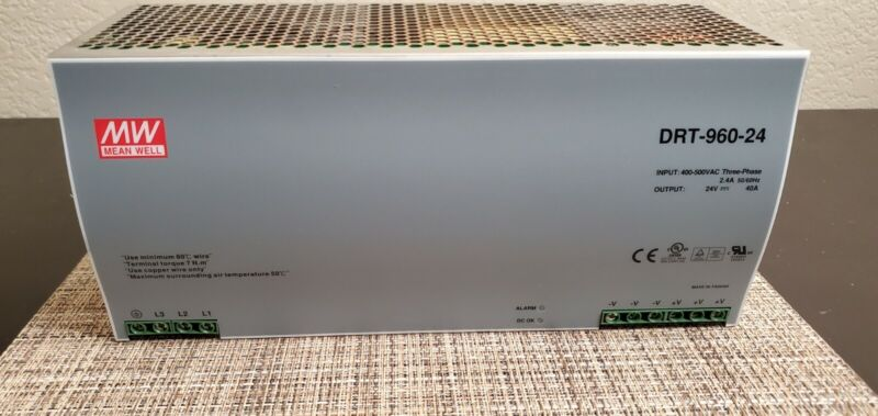 MEAN WELL DRT-960-24 POWER SUPPLY 24V 40A