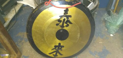 "vintage 28"" Asian gong"