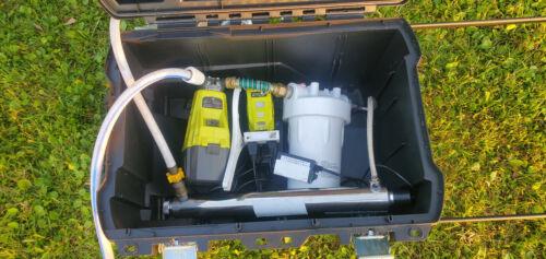 Ryobi 18 V UV Water Purification Filter for Off Grid/Camping/Emergency Backup